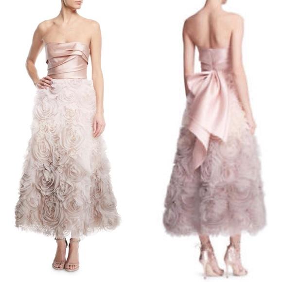 9e258bae78b Marchesa Dresses | Notte Ombr Rosette Gowndress 6 | Poshmark